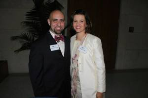 Robert Scavone, Jr. and Heather A. Patchen pictured at the FIU College of Law Inaugural Class Reception
