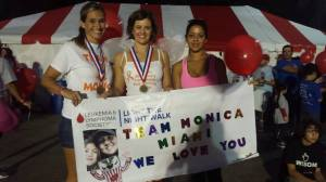Team Monica Miami members: Diana Ide-Gonzalez, Heather A. Patchen and Aidez Severino