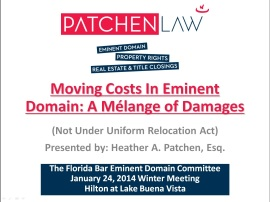 Moving Costs in Eminent Domain