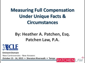 Measuring Full Compensation Under Unique Facts_10.16.15